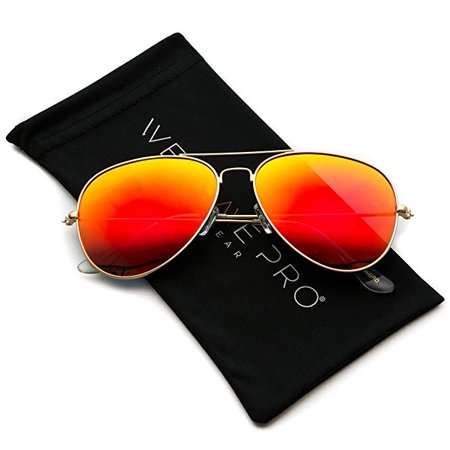 WearMe Pro - Aviator Full Mirror Silver (Wearing Aviators)