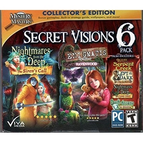 ENIGMATIS The Mists of Ravenwood + Nightmares from the Deep THE SIRENS CALL Hidden Object SECRET VISIONS 6 PACK