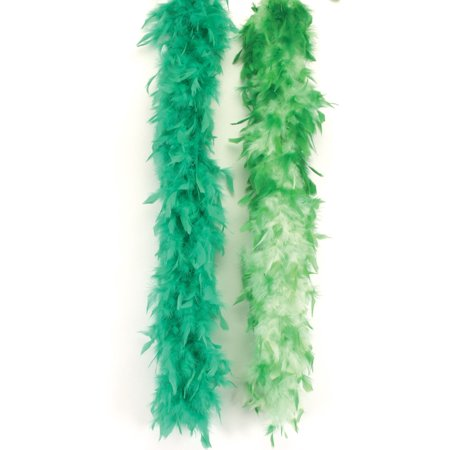 Loftus Extra Long Fluffy Feather Vegas Boa, Green, One Size (72