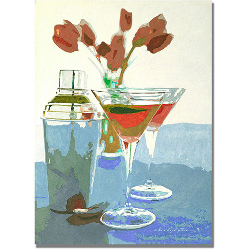 """Trademark Art """"Tulips and Martinis"""" Canvas Wall Art by David Lloyd Glover"""