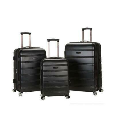 Melbourne 3 Pc Abs Luggage Set, Black