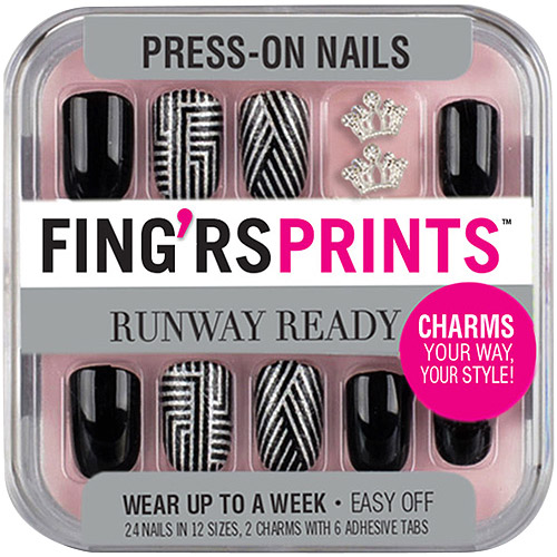 Fing'rs Prints Runway Ready Press-On Nails, Style Icon, 26 count