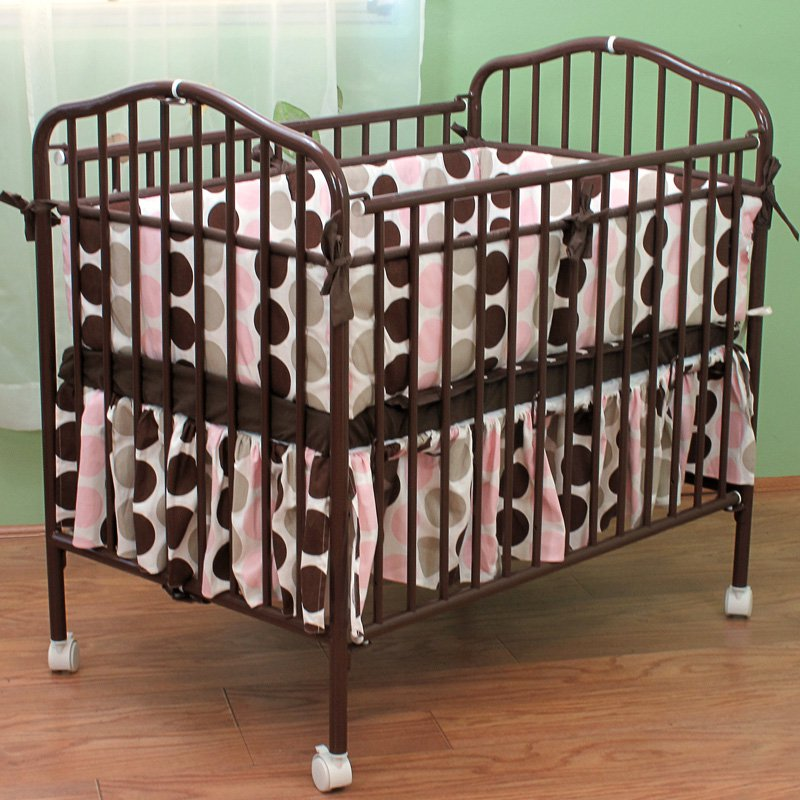 LA Baby Mini/Portable/Compact Crib, Pewter