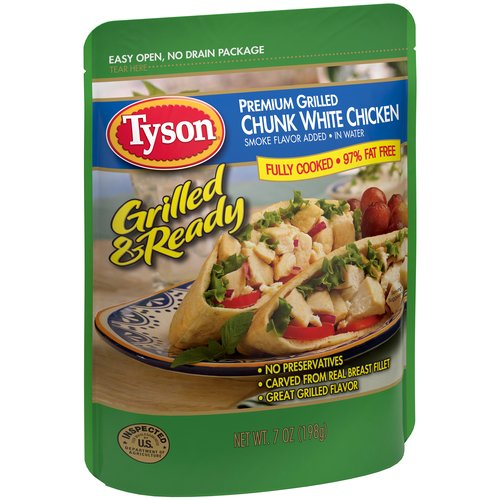 Tyson Grilled & Ready Premium Grilled Chunk White Chicken, 7 oz