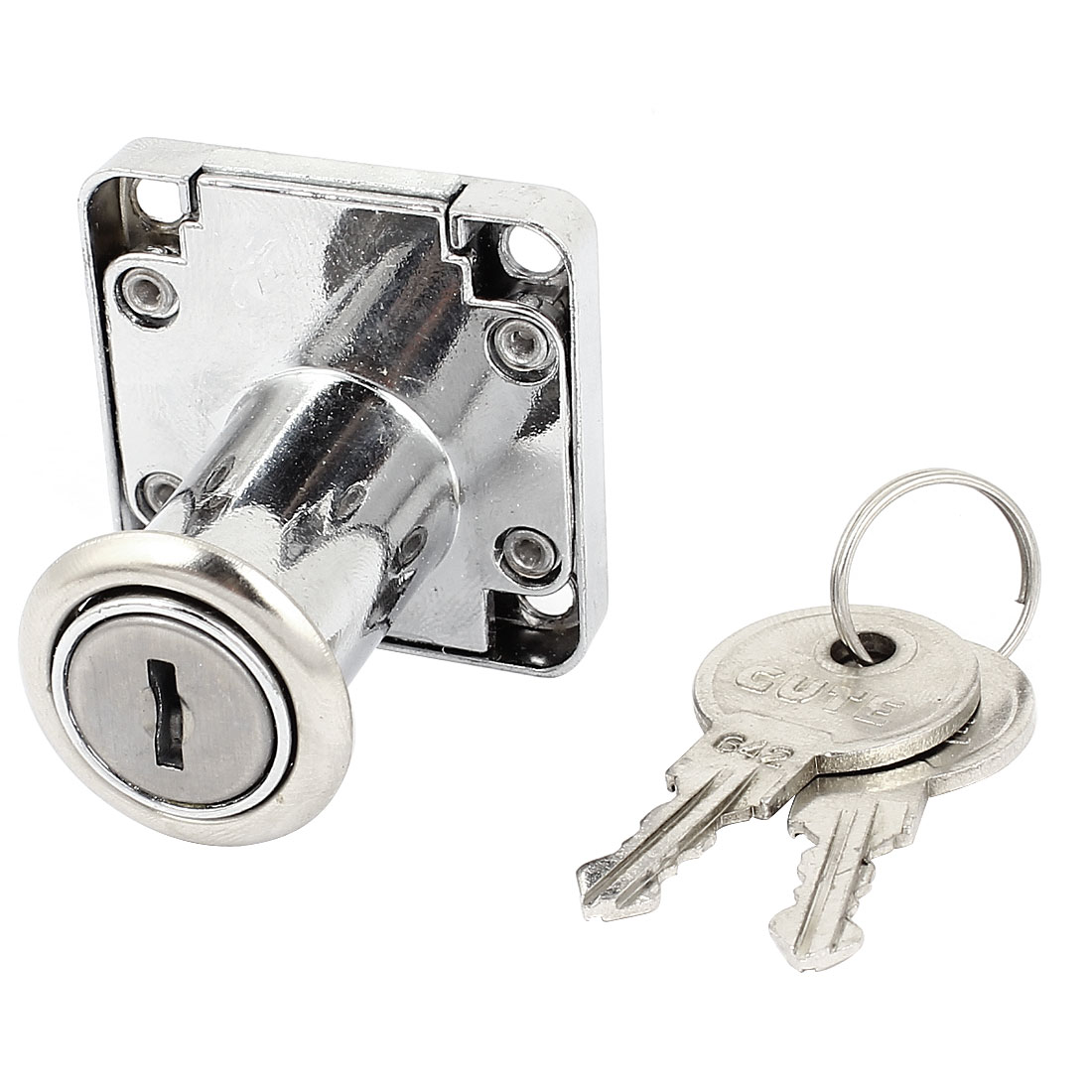 32mm High Cylinder Cupboard Cabinet Mailbox Drawer Safe Lock w 2 Keys