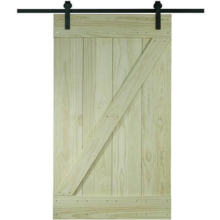 Wood Barn Door Kit 32 Quot X 80 Quot Unfinished Pine Z Design