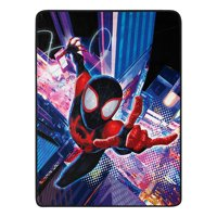 "Marvel Comics Spider-Man Into The Spider-Verse Fleece Super Plush Throw Blanket 46"" x 60"" (117cm x 152cm)"