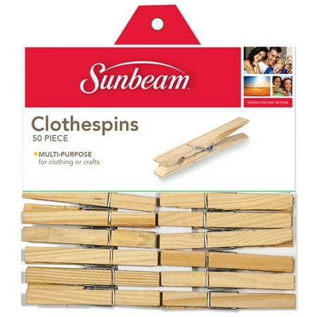 Sunbeam 50-Piece Wooden Clothespin