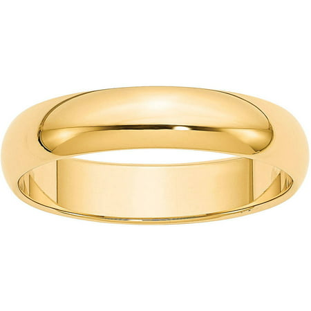 14k 5mm Half-Round Wedding Band