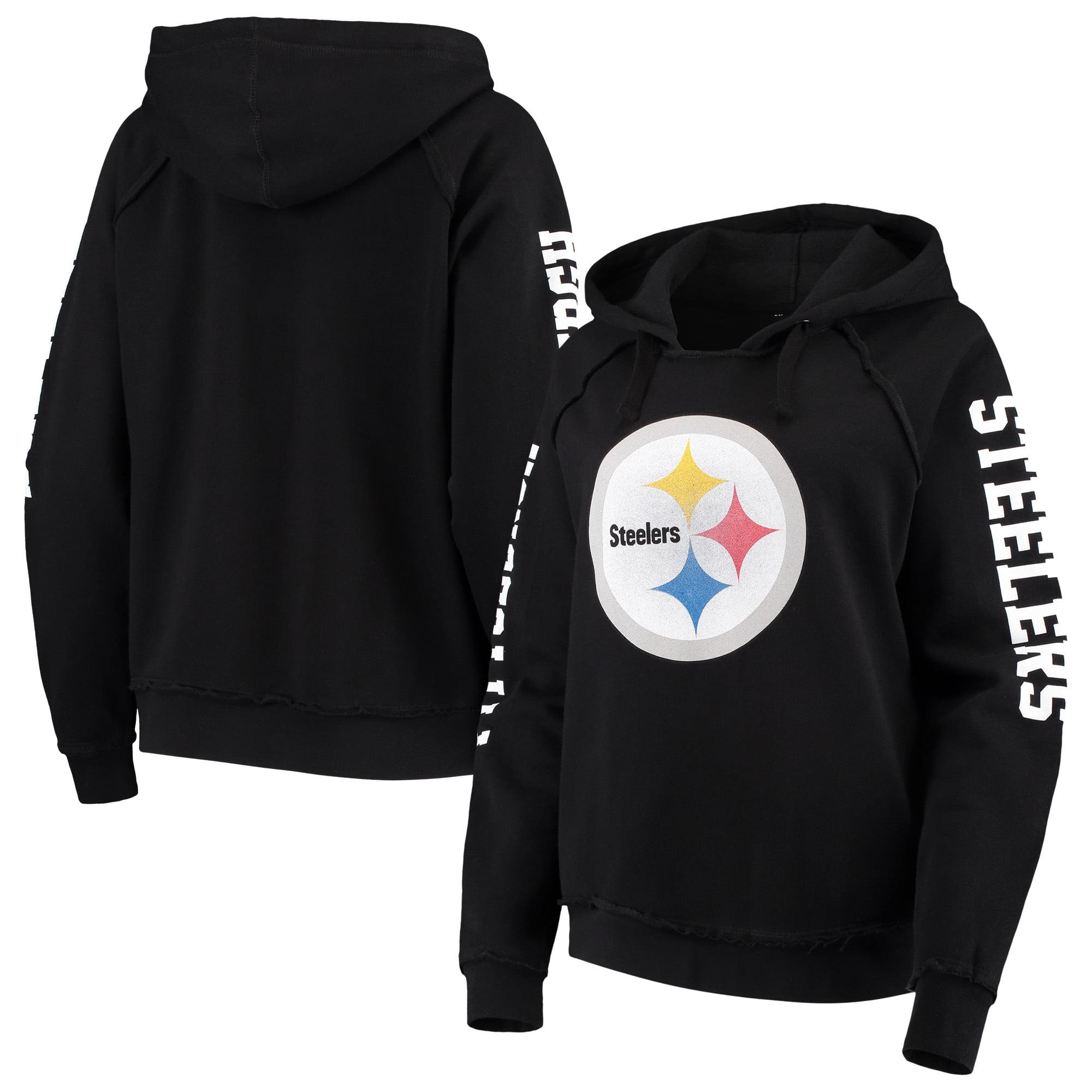 688b38869f2 Pittsburgh Steelers New Era Women s Touchdown Fleece Pullover Hoodie - Black  - Walmart.com