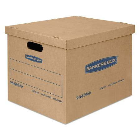 SmoothMove BankersBox Classic Moving Boxes, Medium, 18