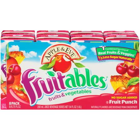 (5 Pack) Apple & Eve Fruitables Juice Drink, Fruit Punch, 6.75 Fl Oz, 8 - New Years Eve Drinks