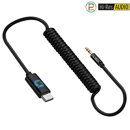 Pixel 2 Type C Aux Cable for Car, HUIRID Type C to 3.5mm