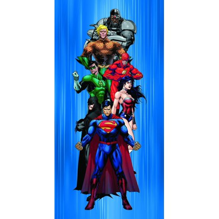 DC Comics Justice League Batman, Superman, Wonder Woman and Friends Fiber Reactive Beach Towel - Heroes, 100% Cotton By JPI (Wonder Woman Beach)