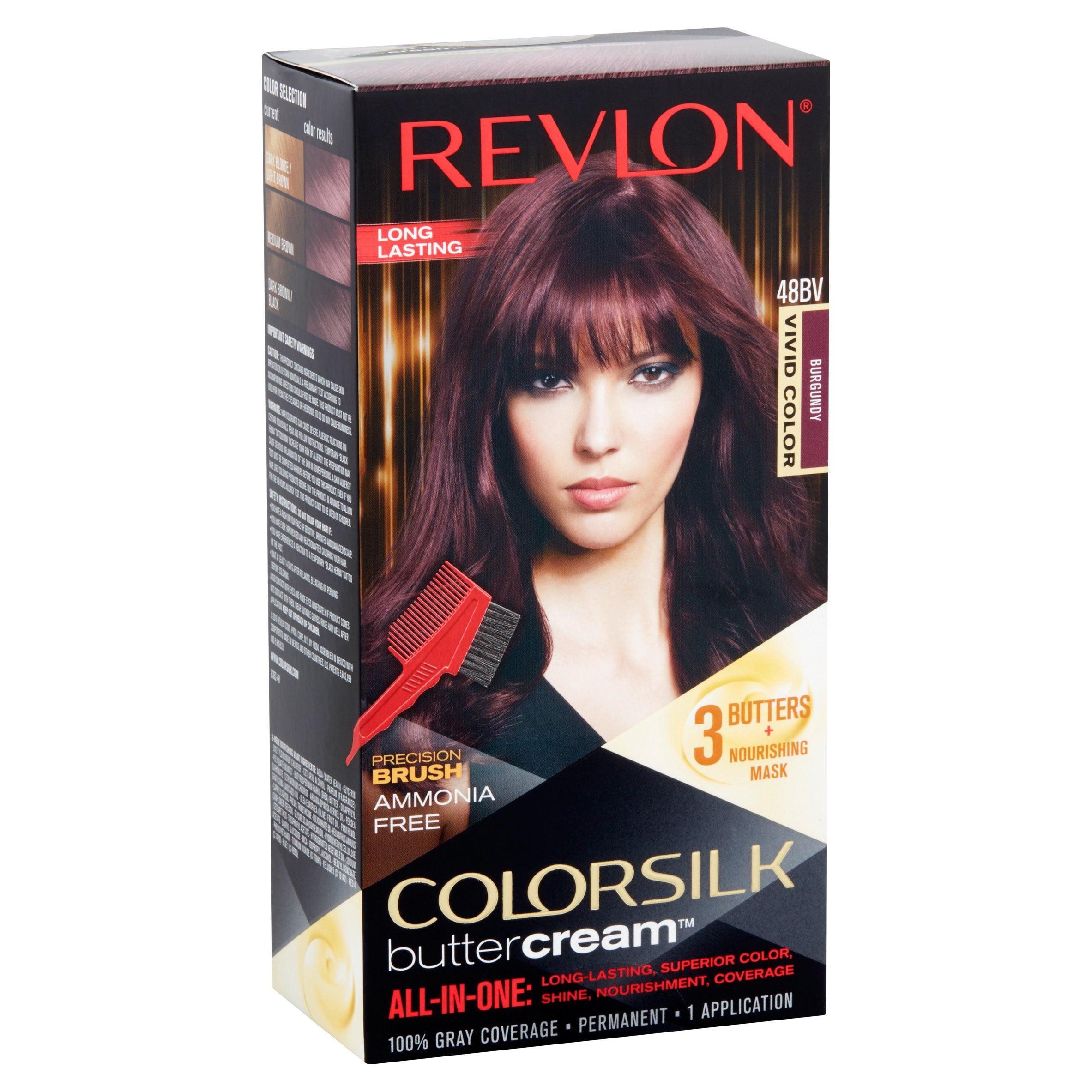 Revlon Colorsilk Buttercream Hair Color 48 Vivid Burgundy Walmart