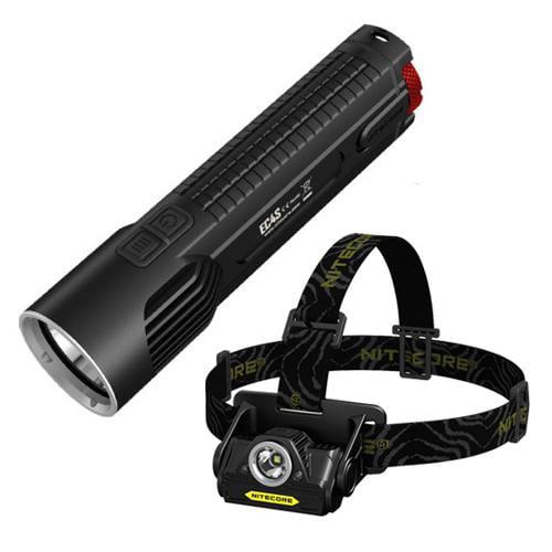 Bundle: Nitecore EC4S 2150 Lumen Flashlight CREE XHP50 LED + Nitecore HA20 Headlamp