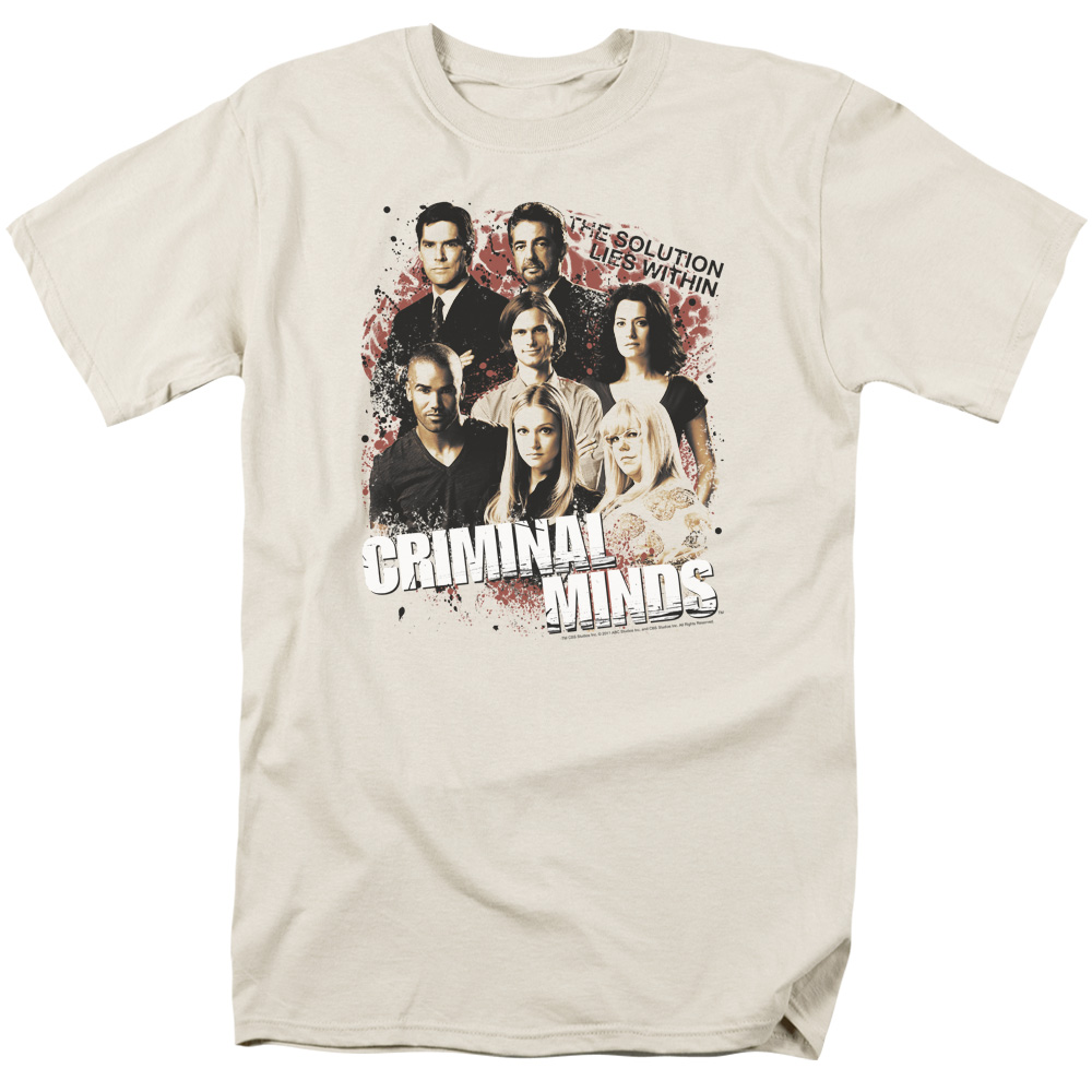 Criminal Minds Men's  Solution Lies Within T-shirt Sand