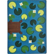 Joy Carpets 1792B Kid Essentials Playful Pond Early Childhood Rectangle Rugs, Multi Color - 3 ft. 10 in. x 5 ft. 4 in.
