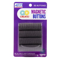 Go Create 19mm Round Magnets, 52 Count