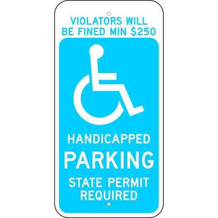 BRADY 115252 CT Parking Sign, 24