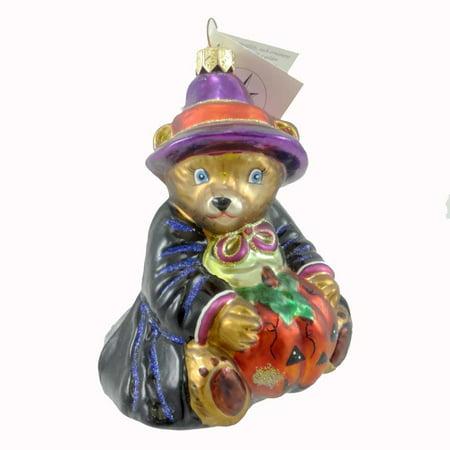 Christopher Radko BEARWITCHED Blown Glass Ornament Halloween Teddy Bear