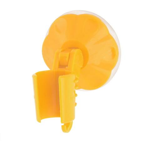 Unique Bargains Washroom Rubber Suction Cup Adjustable Hanging Hooks Shower Head Handle Holder Orange (Shower Head Hook)