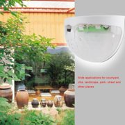 Mgaxyff 4Pcs Solar Powered LED Lights Outdoor Courtyard Waterproof Wall Mounted Lighting Lamp,LED Solar Light, Solar Powered Wall Light