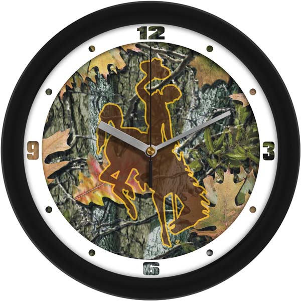 Wyoming Camo Wall Clock