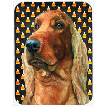 Caroline's Treasures Halloween Candy Corn Irish Setter Glass Cutting Board
