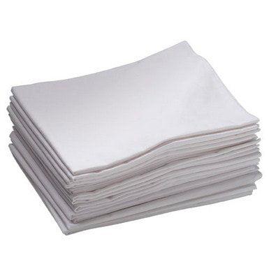 Standard Cot Sheet - White-Quantity:Set of 12
