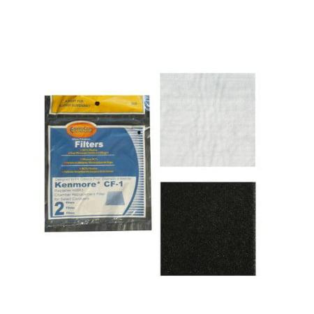 Kenmore Sears Progressive Foam Filter Cf1  Progressive   Whispertone  Panasonic Vacuum Cleaners  86883  86880  20 86