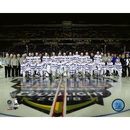 Toronto Maple Leafs Team Sit Down 2018 NHL Stadium Series Photo (Maple Leaf Photo)