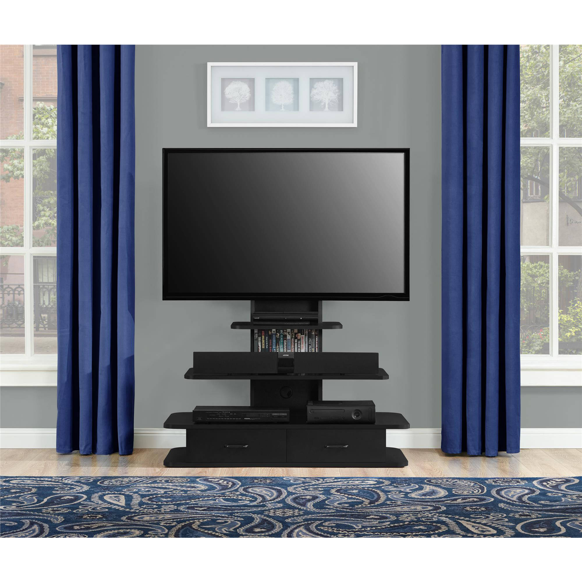 """Altra Galaxy XL TV Stand with Drawers for TVs up to 70"""", Multiple Colors"""