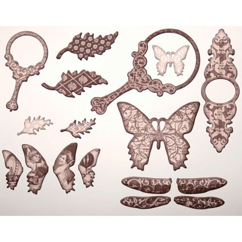 Tattered Angels Self-Adhesive Chipboard Embellishments