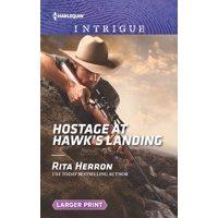 Badge of Justice: Hostage at Hawk's Landing (Paperback)(Large Print)