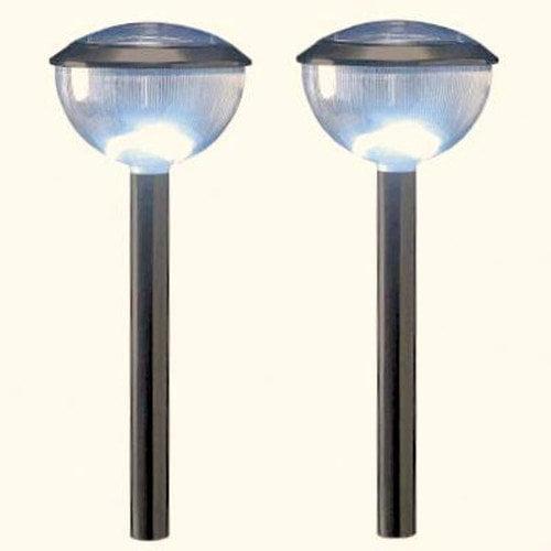 Homebrite Solar Solar LED Dome 1 Light Pathway Lighting (Set of 4)