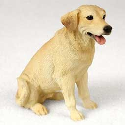 Yellow Lab Figurine