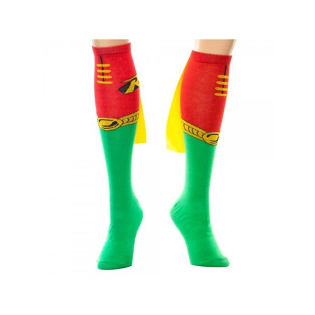 70ce30439 Superheroes - Super Hero DC Comics (Batman) Robin Knee High Cape Socks By  Superheroes - Walmart.com