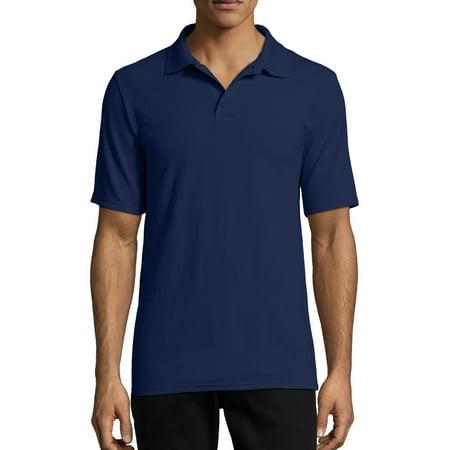 Hanes Men's X-Temp Short Sleeve Pique Polo Shirt Military Pique Polo