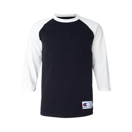 25b4bf9326c1 T137 Champion T-Shirts - Long Sleeve Raglan Baseball T-Shirt - Walmart.com