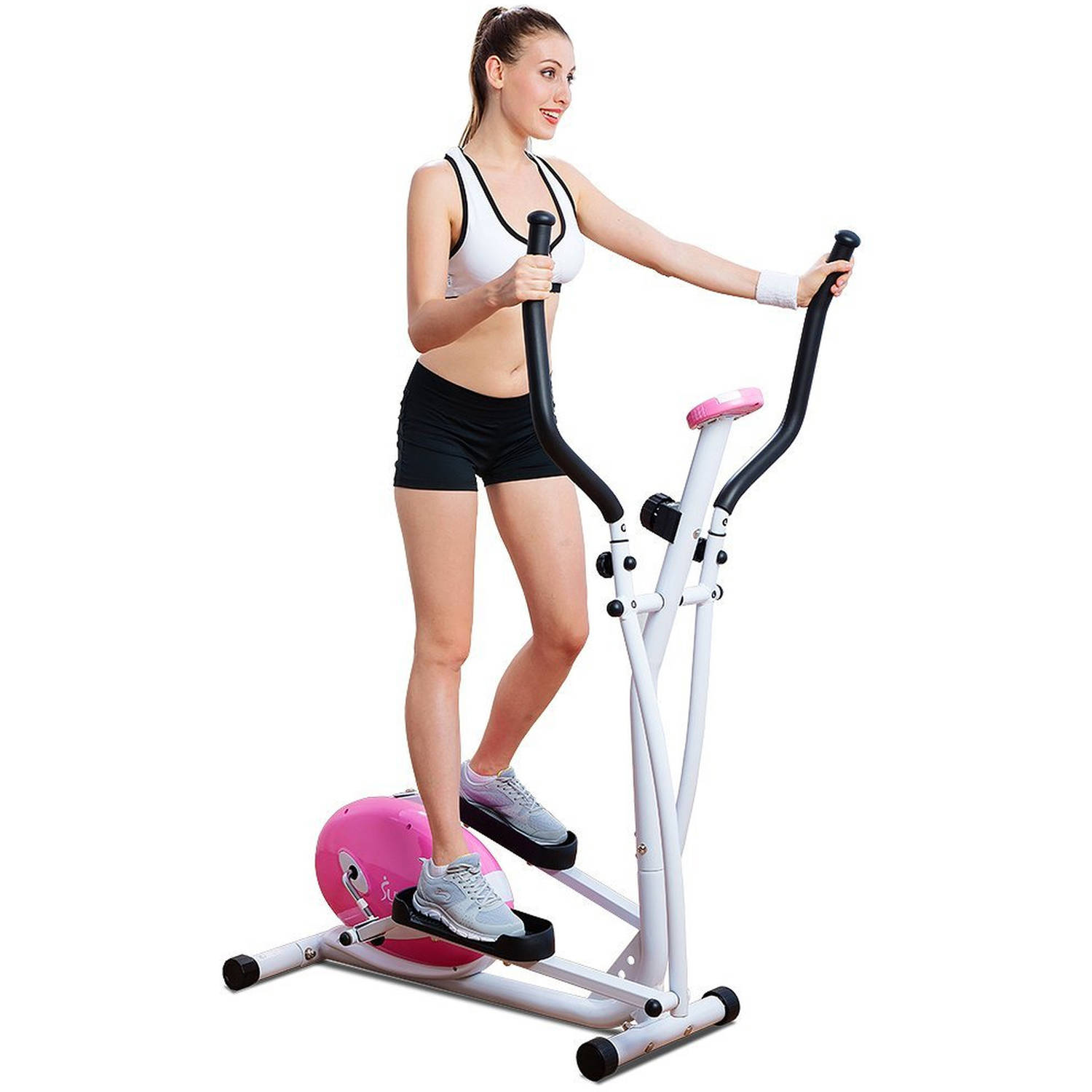 Sunny Health  Fitness P Pink Magnetic Elliptical Trainer - Small elliptical for home