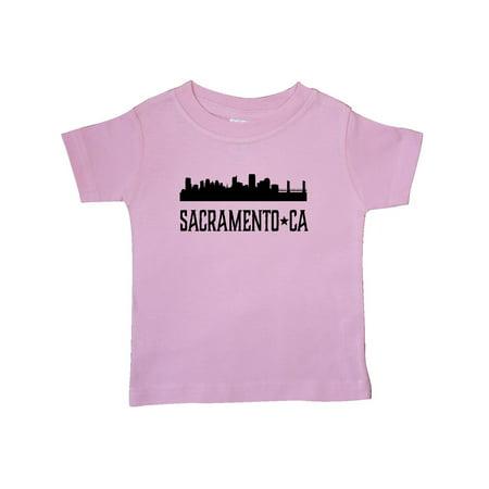 Sacramento California City Skyline Baby T-Shirt (Halloween City Sacramento)