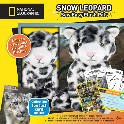 National Geographic Make And Play Plush Kit, Snow Leopard