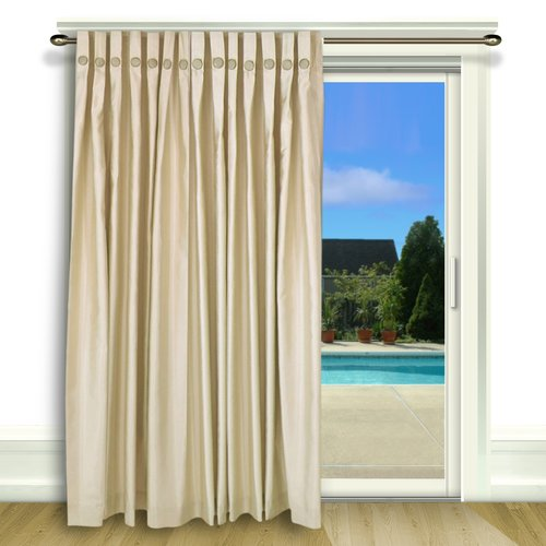 highland dunes kensa solid room darkening thermal pinch pleat single curtain panel