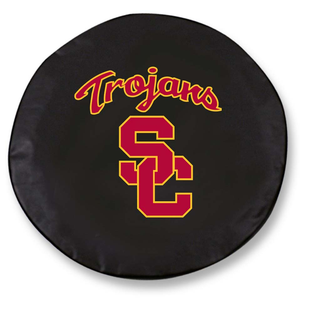 USC Trojans Large Tire Cover (Black)