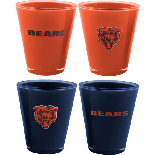 NFL - Chicago Bears Shot Glass Set: Acrylic 4 pack