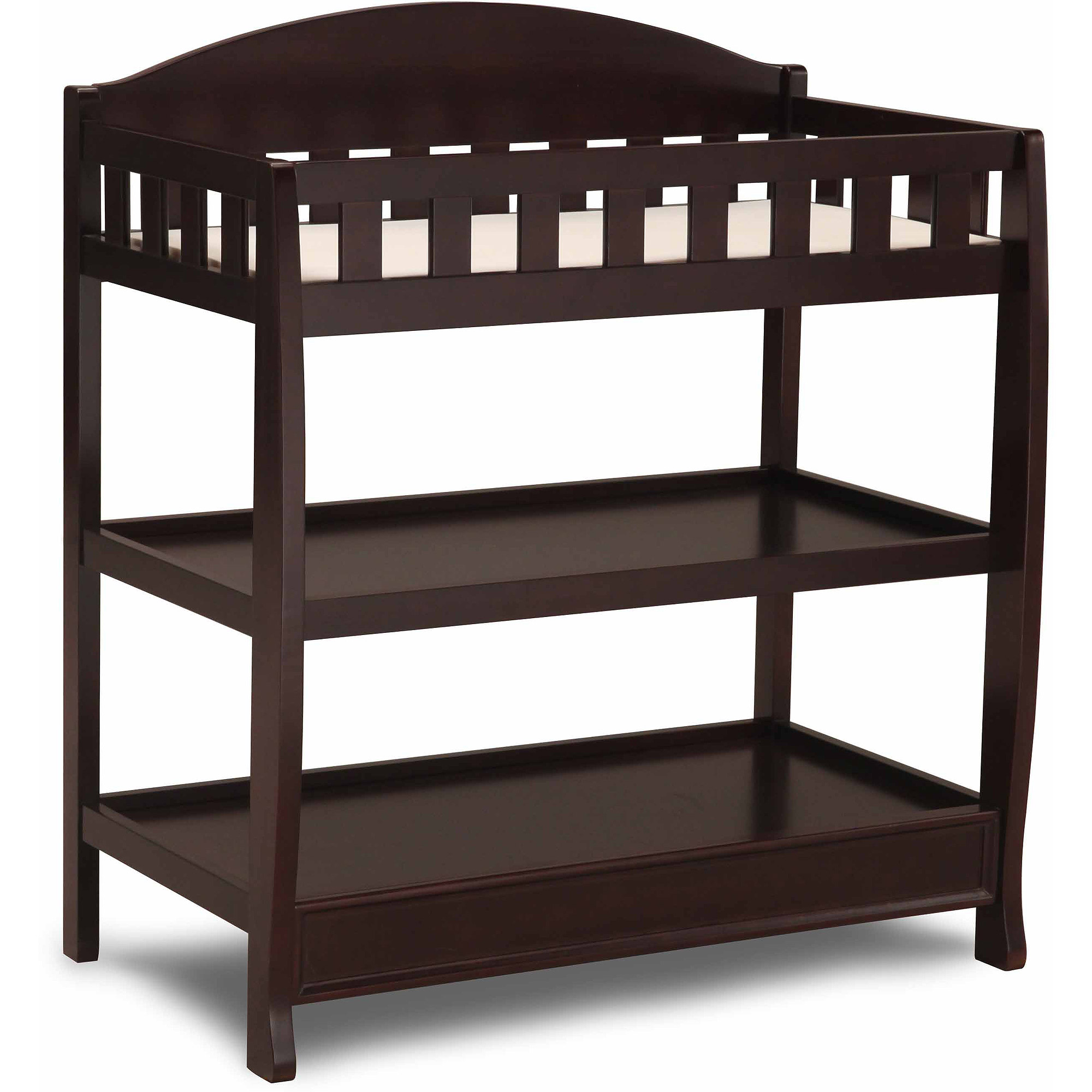Delta Children Wilmington Changing Table with Pad, Dark Chocolate