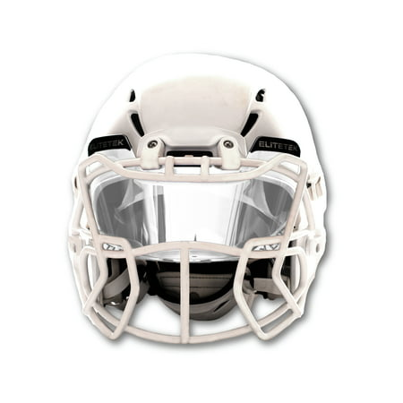 EliteTek Football Helmet Visor - Universal Fits Youth & Adult Helmets (Clear) ()