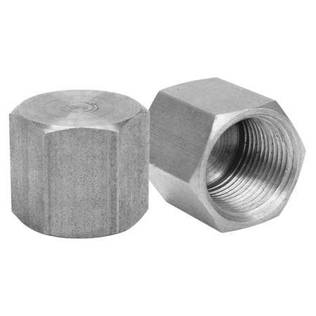 ANVIL Cap,Black Malleable Iron,150,1/4 In.,NPT 318900040 ()