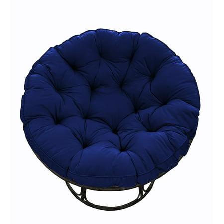 Better Homes & Gardens Papasan Chair with Fabric Cushion, Navy